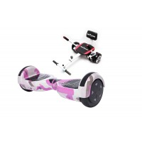 Hoverboard Regular Camouflage Pink fogantyúval +  Hoverseat szivaccsal