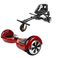 Hoverboard Regular Red Spider + Hoverseat Felfüggesztéssel
