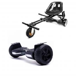 Hoverboard Hummer Black, 8.5 inch, 700 Wat, 36V 4Ah + Hoverseat Felfüggesztéssel