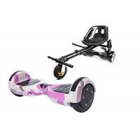Hoverboard Regular Camouflage Pink  fogantyúval +  Hoverseat Felfüggesztéssel