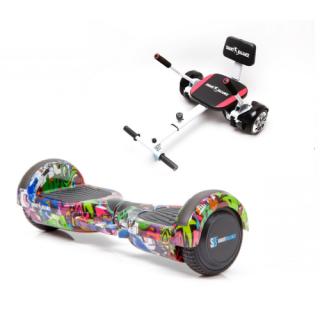 Promóciós csomag: Hoverboard Regular Multicolor fogantyúval  + Hoverseat szivaccsal