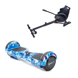 Promóciós csomag: Hoverboard Regular Camouflage Blue fogantyúval + Hoverseat